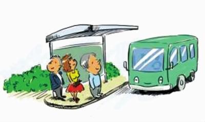 小小智慧树坐公共汽车-公交车 你将怎样实现转身高清图片
